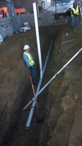 New Construction Plumbing Excavations